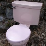 A toilet outside